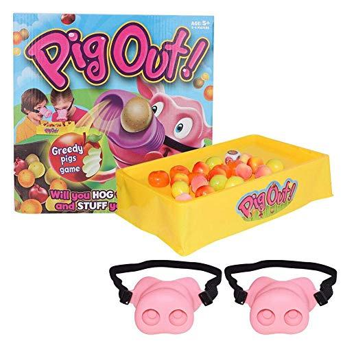 Yiyu Diversión Cerdo Nariz Tricky máscara Animal de Juguete Pig out Cosplay con el elástico Cubo Padre Interactivo del niño Playset Regalo de cumpleaños for niños y Adultos x (Color : Pink)