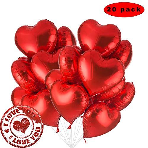 Sunshine smile 20Pezzi Palloncini in Elio, Palloncini Compleanno, Palloncini di Cuore, Palloncini rossi di compleanno, Palloncini a Forma , San Valentino Palloncini, Palloncini Foil, JGA Party Deko
