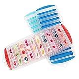 Kurtzy Wasserflasche Eiswürfelform (3er Pack) - (30 x 11,5 x 2cm) BPA-freie Flexible 10-Silikon-Eisformen Eiswuerfel für Cocktailpartys, Wasserflaschen, SportFlaschen, Saftflaschen