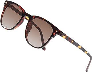 Gaoye Classic Polarized Sunglasses for Women Men,TR90 Vintage Retro Square Lightweight Frame UV400 Mirror Protection Lens