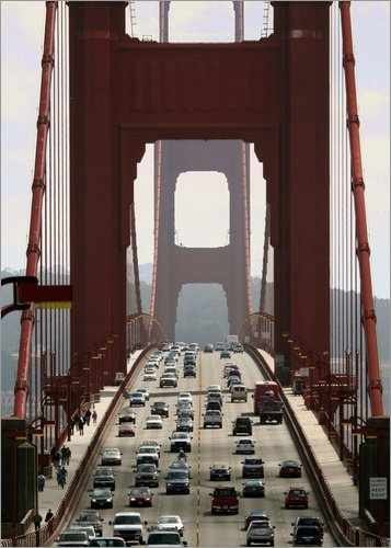 Poster 50 x 70 cm: Golden Gate Bridge von Marcel Schauer - hochwertiger Kunstdruck, neues Kunstposter