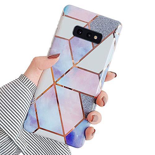 Urhause Kompatibel mit Samsung Galaxy S10e Hülle TPU Silikon Bunt Schutzhülle,[Marmor Muster Silikonhülle] Hülle Gemalt,Ultra Slim Durchsichtig mit Muster Bumper Stoßfest Hülle,Lila