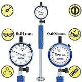 BIKEULTIMATE Reloj de medición Diámetro Interior del Cilindro de medición 18-35-50-160-250mm indicador micrómetro Cilindro de Calibre 0,01 mm,6~10mm(0.01mm)
