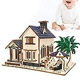 Camidy Juguete del Rompecabezas 3D Modelo de La Casa del Edificio de La Villa de Madera Niño DIY Artesanía Juguetes Educativos del Rompecabezas