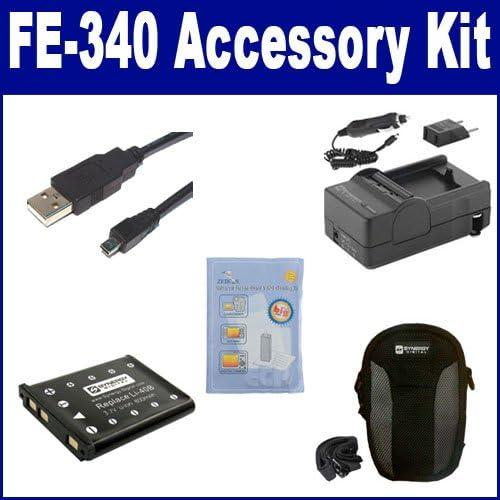 National uniform free shipping Olympus FE-340 Digital Camera Accessory USB8PIN Max 55% OFF Kit US Includes: