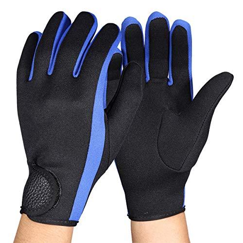Rehomy buceo neopreno Snorkeling Kayak Surf deporte gancho y bucle guantes negro azul M 1 par