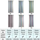 mewmewcat Sterne Vorhänge Sterne Verdunkelungsvorhänge für Kinder Mädchen Schlafzimmer Wohnzimmer Bunte Doppelschicht Sterne Fenster Vorhänge, 1 Panel (53