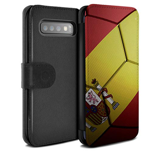 eSwish PU Pelle Custodia/Cover/Caso/Portafoglio per Samsung Galaxy S10 / Spagna/Spagnolo/Nazioni calcistiche Disegno