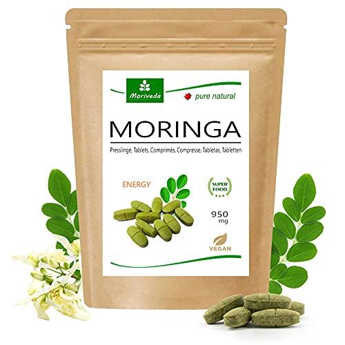 MoriVeda® Moringa Energy Tablets 950mg, 120 unità. I...