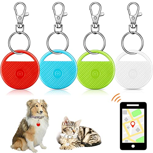 Smart Key Finder Item Locator with 4 Pieces Keychains, Bluetooth Tracker for Kids Pets Keychain...