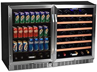 Edgestar 53 Bottle + 148 Can Side-by-Side Wine & Beverage Cooler Center