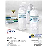Avery Printable Blank Wraparound Rectangle Labels, 1.25' x 9.75', Matte White, 40 Customizable Labels (22845)