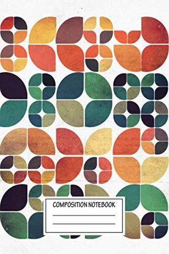 Composition Notebook: Abstract Vintage Fall Pattern Abstracts Wide Ruled Note Book, Diary, Planner, Journal for Writing