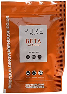 Bodybuilding Warehouse Pure Beta Alanine Powder/Unflavoured (500g)