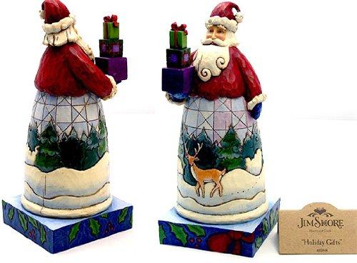 Jim Shore Babbo Natale figura W/regali