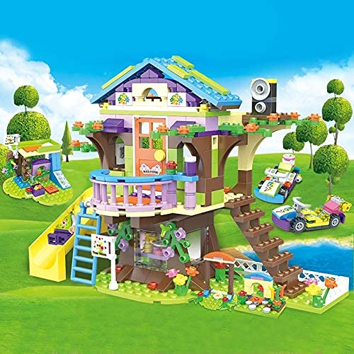 Bloques de construcción 587PCS Friends Mystery Adventure Camp Tree House Building Blocks City Girls Playground DIY Modelo Ladrillos Juguetes para niños Regalos