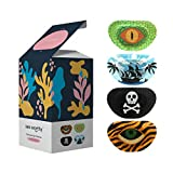 See Worthy Adventure Eye Patches for Kids, Innovative Shape, Smart Adhesive Technology, Breathable Material and Fun Eyepatch Designs (48 per Box)