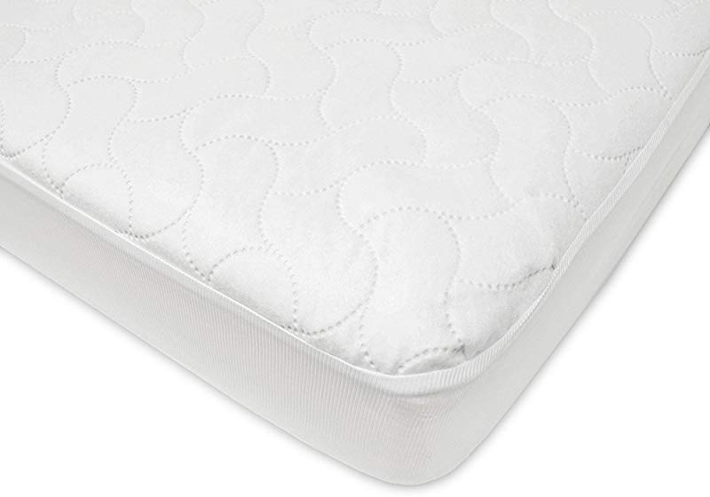 American Baby Company Waterproof Fitted Crib And Toddler Protective Mattress Pad Cover White