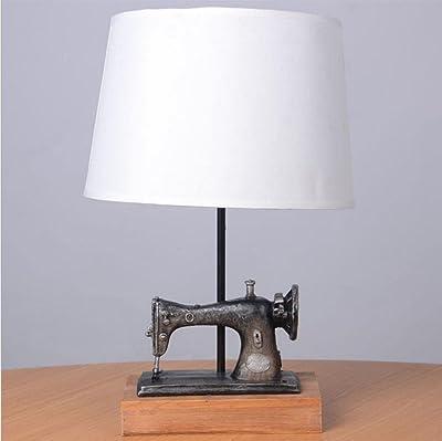 Interior Lámpara de máquina de coser vintage Lámpara de mesita de ...