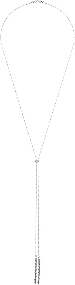 Dee Berkley - Bolo Convertible Necklace Sterling Silver with Coated Quartz