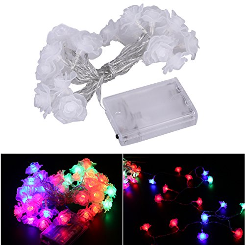Multicolore Plastique Leblanc illumination JLE3363044 LED Guirlande 5 X 20