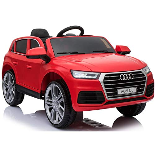 Audi Q5 Licenciado 12v - Rojo - Coche eléctrico para niños Audi Q5 con Licencia Oficial. Nueva versión 2020