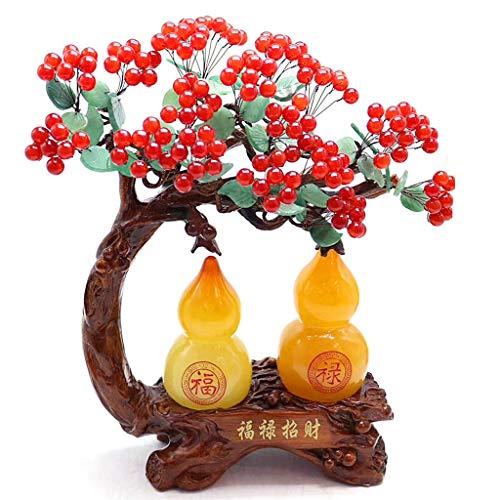 Ornamento de Escritorio Crystal árbol del dinero fortuna decoración del árbol de accesorios for el hogar Sala de TV abertura del armario de cristal de regalo Siete Chakra Bonsai árbol del dinero de Fe