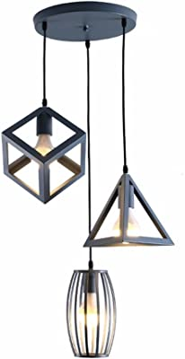 Suspensions Luminaire Idegu Géométrique Design E27 Lampes Moderne 3 O80kXwPNn