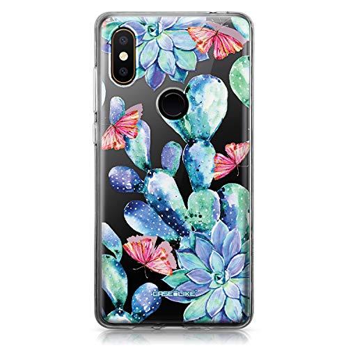 CASEiLIKE® Mi Mix 2S Hülle, Mi Mix 2S TPU Schutzhülle Tasche Hülle Cover, Botanischer Kaktus 1600, Kratzfest Weich Flexibel Silikon für Xiaomi Mi Mix 2S
