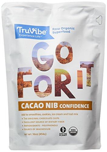 TruVibe 100% Organic Raw Cacao Nibs, 1 lbs (16 Ounce)