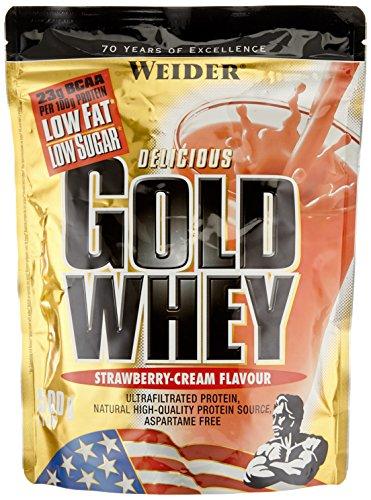Weider Gold Whey Beutel 2er Pack, Erdbeer, 2 x 500 g (1 x 1 kg)
