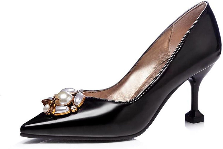 XUERUI Ms High Heels Stilettos Sandals Graduation Get Together Elegant Beautiful 7.5cm Heel (color   2, Size   EU36 UK3.5 CN35)