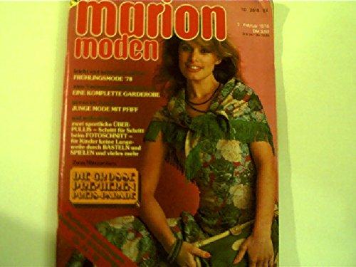 Junge Mode mit Pfiff + Frühlingsmode 1978 ... marion moden - 02. Februar 1978,