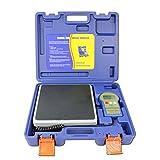 BACOENG 220lb/100kg Báscula de Carga Electrónico Digital Refrigerante de Precisión Calibration para HVAC, con Pantalla LCD de Iluminación Trasera y Estuche de Transporte Portátil