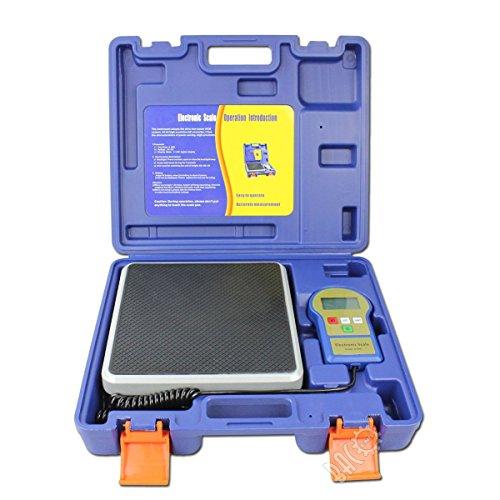 BACOENG Electronic Kältemittel skala 100 kg mit hintergrundbeleuchteter LCD-Anzeige, mitgelieferter 9 V-Batterie und Transportkoffer