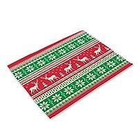 KEKEYANG メリークリスマスプラセマットコースターパッドのクリスマスの装飾のための家のダイニングテーブルカップマットノールクリスマスの装飾ナビダード新年2021年 ースター (Color : 14)