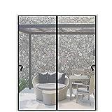 Magnetic Screen Door 72 x 96 inch, CHUSSTANG Heavy Duty French Door Mesh Curtain Magnet Patio Door...
