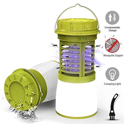 RUNACC UV Insektenvernichter Moskito Lampe Faltbare Tragbares Mückenlampe Camping Licht Wiederaufladbar Camping Lampe Outdoor Lantern Bug Zapper für Angeln, Wandern, Camping