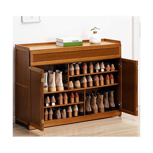 Gnpolo Shoe Storage Cabinet Entryway with Doors Standing Shoe Rack Organizer Pantry...