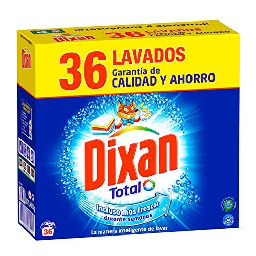 Dixan Detergente Polvo Total para Lavadora - 36 Lavados (1980 kg)