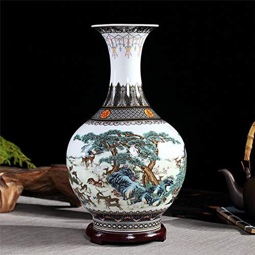 Ethan Jingdezhen keramische vaas imiteren roze gekleurde retro arrangementen grote vazen Chinese huis woonkamer decoraties