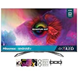 Hisense 55H9G 55-inch H9G Quantum 4K ULED Smart TV (2020) Bundle with Premiere Movies Streaming 2020 + 30-70 Inch TV Wall Mount + 2X HDMI Cable + 6-Outlet Surge Adapter