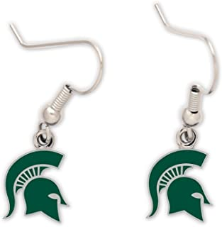 msu spartan earrings