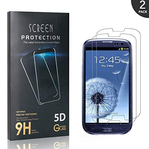 Generic LAFCH 2 Stück Schutzfolie Kompatibel mit Galaxy S3, Displayschutzfolie 9H Härte und Hohe-Auflösung, Kratzfest, Blasenfrei, Hüllenfreundlich für Samsung Galaxy S3