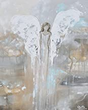 Imagekind Wall Art Print Entitled with Courage in Her Heart - Angel Painting by Christine Krainock   16 x 20