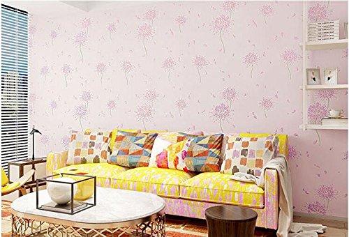 Yosot 3D driedimensionaal reliëf woonkamer tv-achtergrond verdikking behang in warme slaapkamer bruiloft kamer vliesposter roze (pale pink)