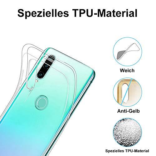 Ylife Hülle Kompatibel Huawei P30 Lite, Ultra Dünn Transparent Weiche Silikon TPU Handyhülle, Anti-Gelb Crystal Clear Silikonhülle, Anti-Scratch Schutzhülle, Durchsichtige Case Cover - Klar - 4