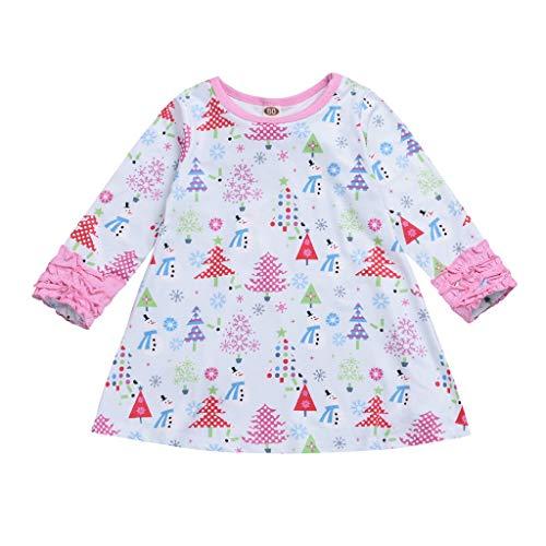 HSKB Kleding voor kleine kinderen en meisjes, strips, bloemenprint, casual lange mouwen, herfst winterjurk, kinderen meisjes topkleding