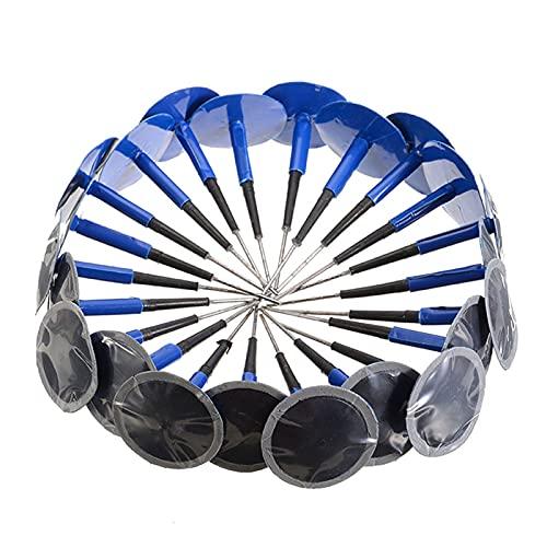 YANGZHIQIANG 24pcs 36mm VeHee Veese Tubeless Tire Punchure Reparation Kit de reparación de champiñones con Cable Sistema de Herramientas de reparación de neumáticos