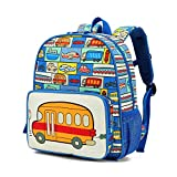willikiva Dinosaur Toddler Kids Backpack Car Children Boys and Girls Waterproof Preschool Bag(Car)